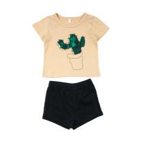 Conjunto de pantalones cortos estampados para niñas