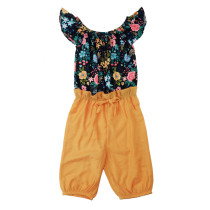 Mono de verano con estampado floral para niña