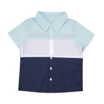 Camisa de verano de contraste para niños