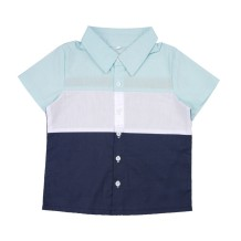 Kinder Boy Kontrast Sommer Shirt