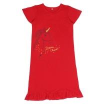 Платье для девочки с принтом в красном цвете