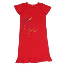 Kids Girl Red Print Shirt Dress