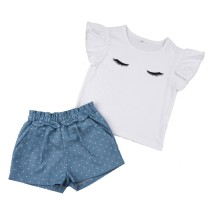 Kids Girl Print Shorts Set