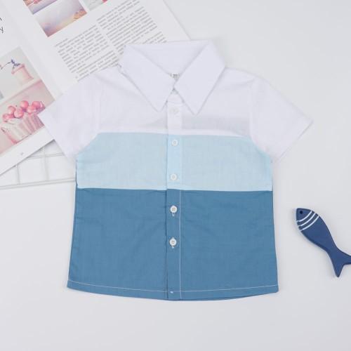 Kinder Boy Kontrast Sommer Shirt