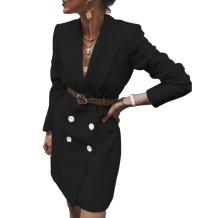 Vestido blazer de manga larga elegante pura
