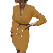 Прозрачное элегантное платье с длинными рукавами и блейзером
