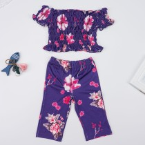 Kids Girl Floral Print Pants Set