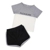 Conjunto de pantalones cortos de verano con estampado para niños