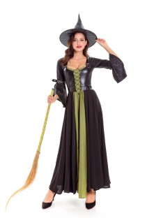 Women Long Witch Costume