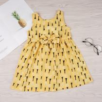 """Детское платье с принтом """"Желтая принцесса"""""""