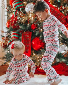 Family Christmas tweedelige pyjama set voor baby