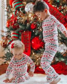 Family Christmas Two Piece Pajama Set for Baby