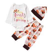 Baby Boy Herbst Print Hose Set mit Hut