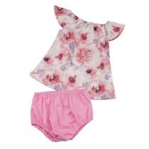 Baby Girl Summer Floral Shirt und Panty