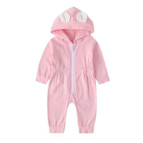 Baby Mädchen lange Ärmel Reißverschluss Bär Overall