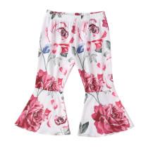 Kids Girl Bell Bottom Floral Pants