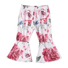 Calças florais de sino menina infantil