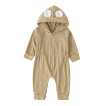 Baby Girl Long Sleeves Zipper Bear Jumpsuit