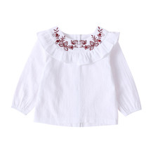 Kids Girl White Rüschen Shirt