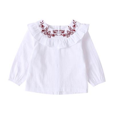 Camisa de niña blanca con volantes