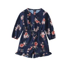 Kinder Mädchen Floral Long Sleeves Strampler