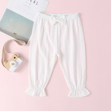 Kids Girl White Ruffles Calças