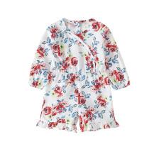 Mamelucos de manga larga con estampado floral para niña