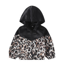 Kids Girl Leopard Long Sleeves Jacket