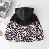 Kinder Mädchen Leopard Langarm Jacke