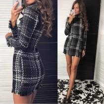 Mini vestido a cuadros de invierno Kntting