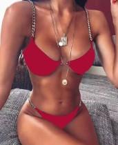 Traje de baño brasileño de cadenas sexy