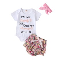 Baby Girl Floral Skirt Set with Headband