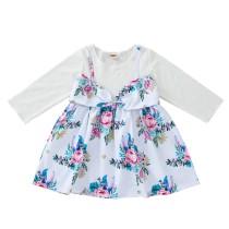 Kids Girl Shirt et jupe à fleurs