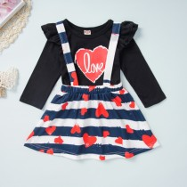 Conjunto de falda con estampado de niña para niños