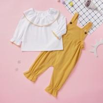 Set met witte en gele Bib-broek voor kinderen