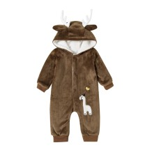 Baby Boy Polar Fleece Christmas Elk Rompertjes