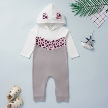 Baby Girl Print Bear Rompertjes