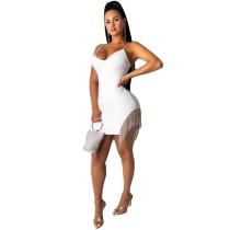 Sexy Straps Tassels Bodycon Dress