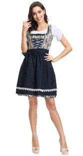 Wit en blauw stewardess Halloween-kostuum