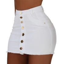 Minifalda de mezclilla sexy con botones