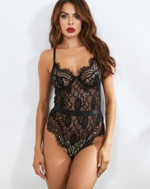 Sexy Black Lace Teddy Lingerie