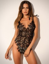 Sexy Lace Riemen Teddy Dessous