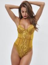 Sexy Spitzenriemen Bodysuit Dessous
