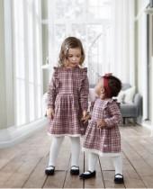 Детское платье в клетку с длинными рукавами