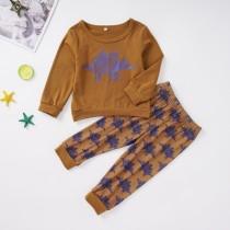 Kinder Mädchen Print Langarm Trainingsanzug