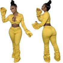 Conjunto de top y pantalones de mezclilla sexy