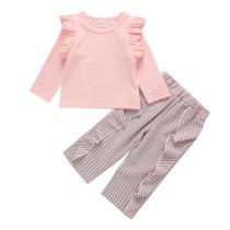 Camisa e calças de babados para crianças