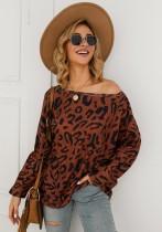 Рубашка с леопардовым рукавом
