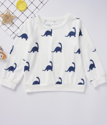 Kids Boy Print Weißes Langarmhemd