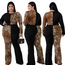 Ensemble léopard de grande taille et pantalon